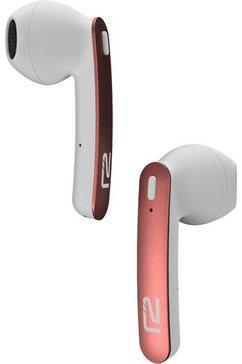 ready2music in-ear-hoofdtelefoon chronos air met opbergbox - laadstation roze