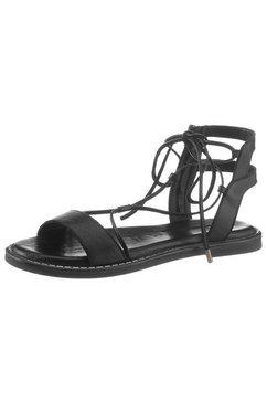 tamaris romeinse sandalen »toffy« zwart