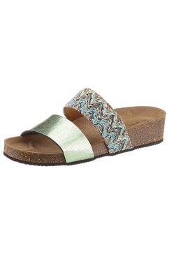 betty barclay shoes slippers met ergonomisch gevormde binnenzool groen