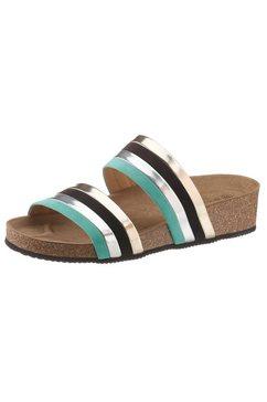 betty barclay shoes slippers met metallic-riempjes multicolor