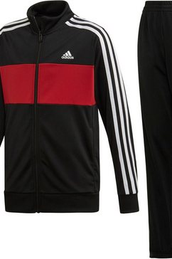 adidas performance trainingspak »young boy tracksuit tiberio« (set, 2 tlg.) zwart