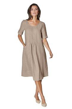 creation l premium jurk in a-lijn linnen jurk bruin