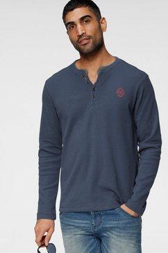 lerros shirt met lange mouwen blauw