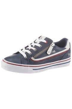 mustang shoes sneakers met rits opzij blauw