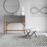 cosmoliving by cosmopolitan vloerkleed »hazel leopard«, cosmoliving by cosmopolitan, rechthoekig, hoogte 8 mm, machinaal geknoopt wit