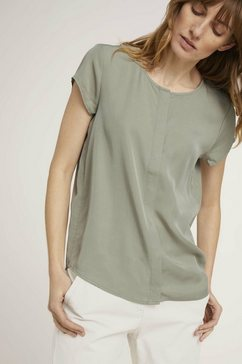 tom tailor blouse met korte mouwen groen