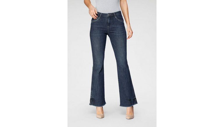 BLUE FIRE bootcut jeans VICKY-BF Bootcutjeans met authentieke used effecten