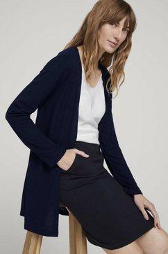 tom tailor lang sweatshirt »langer cardigan aus sweat« blauw
