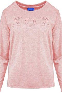 xox shirt met ronde hals roze