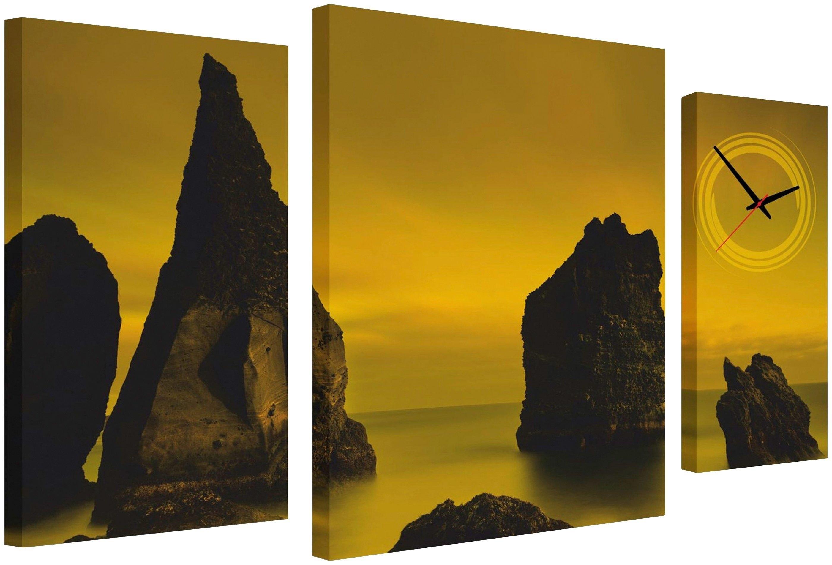 Conni Oberkircher´s wanddecoratie Sepia Coast met decoratieve klok (set) nu online kopen bij OTTO