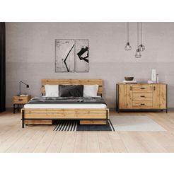 inosign bed »aubetin« beige