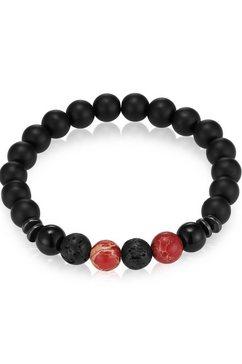 gemdor armband engeriearmband, 50160007 met onyx, jaspis, lavasteen en hematiet rood