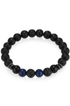 gemdor armband engeriearmband, 50160004 met onyx, lapis lazuli, lavasteen en hematiet blauw