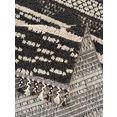 andas vloerkleed »david«, andas, rechthoekig, hoogte 18 mm, machinaal geweven grijs