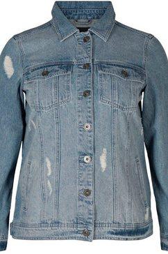 zizzi jeansjack »camille« blauw