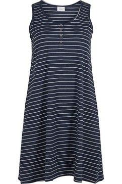 zizzi gedessineerde jurk blauw