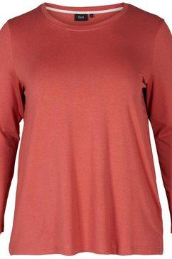 zizzi shirt met lange mouwen »mlana« oranje