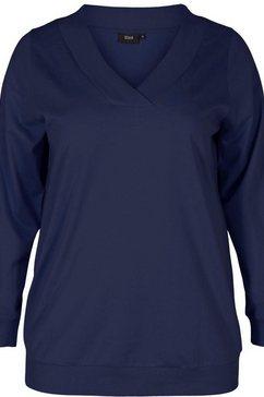 zizzi sweatshirt »mluna« blauw