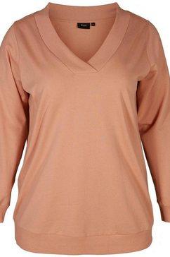 zizzi sweatshirt »mluna« roze