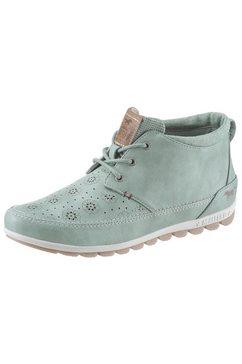 mustang shoes hoge veterschoenen groen