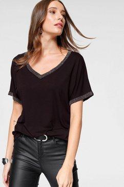 laura scott shirt met v-hals zwart