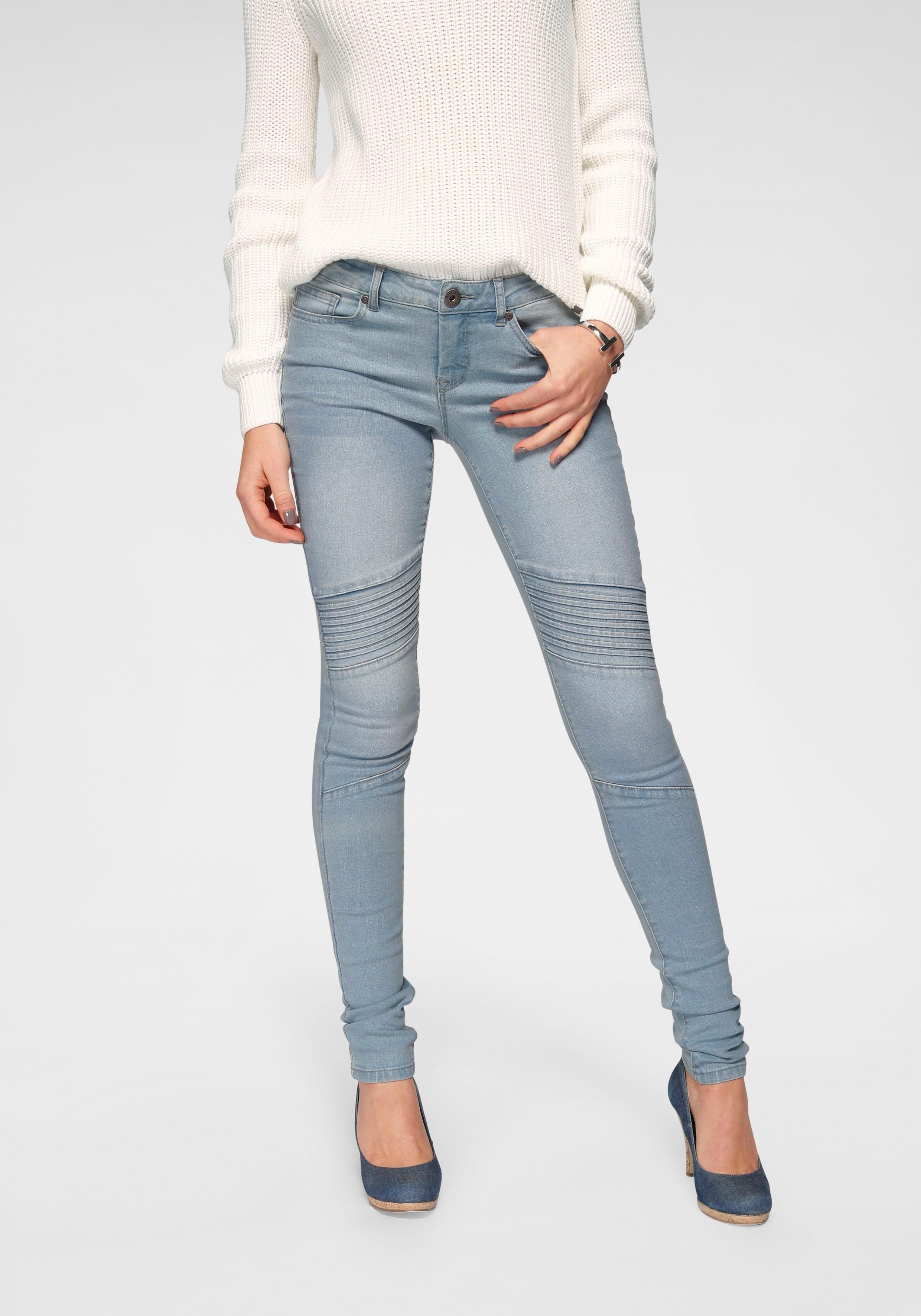 Arizona skinny fit jeans In biker-look Low Waist nu online bestellen