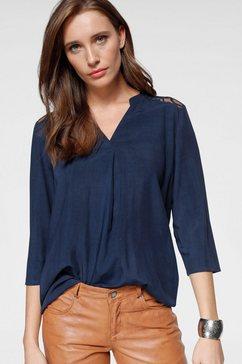 laura scott blouse met stolpplooi blauw