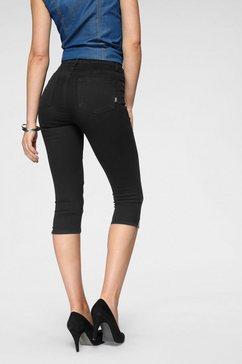 arizona capri jeans »ultra stretch« zwart