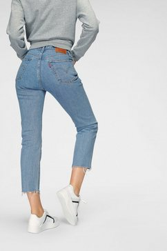levi's slim fit jeans »501 crop« blauw