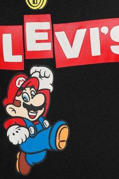 levi's t-shirt »nintendo x levi's« zwart