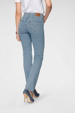levi's rechte jeans »314 shaping straight« blauw