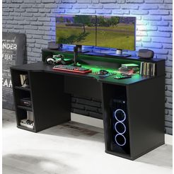 forte gamingtafel »tezaur« zwart