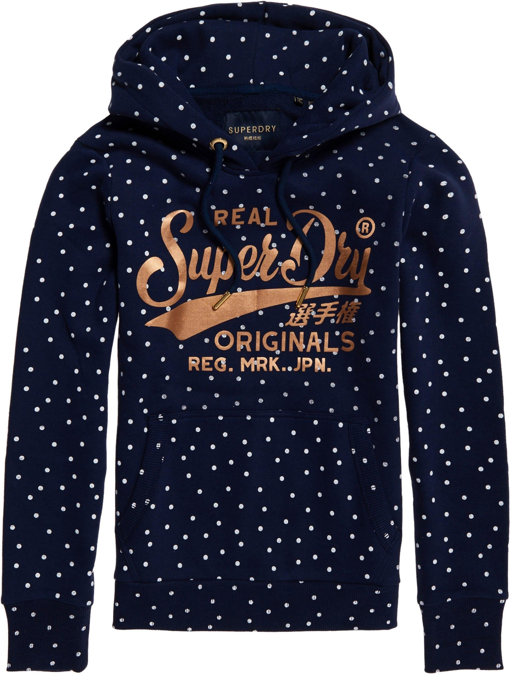 Superdry hoodie »RO DOT AOP ENTRY HOOD« nu online kopen bij OTTO