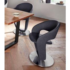 mca furniture stoel firona stoel belastbaar tot 140 kg (set, 2 stuks) grijs