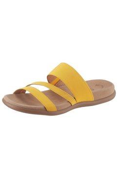 gabor slippertjes van textiel geel