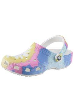crocs clogs »rainbow tie« wit