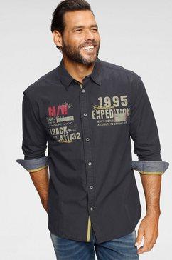 man's world overhemd met lange mouwen