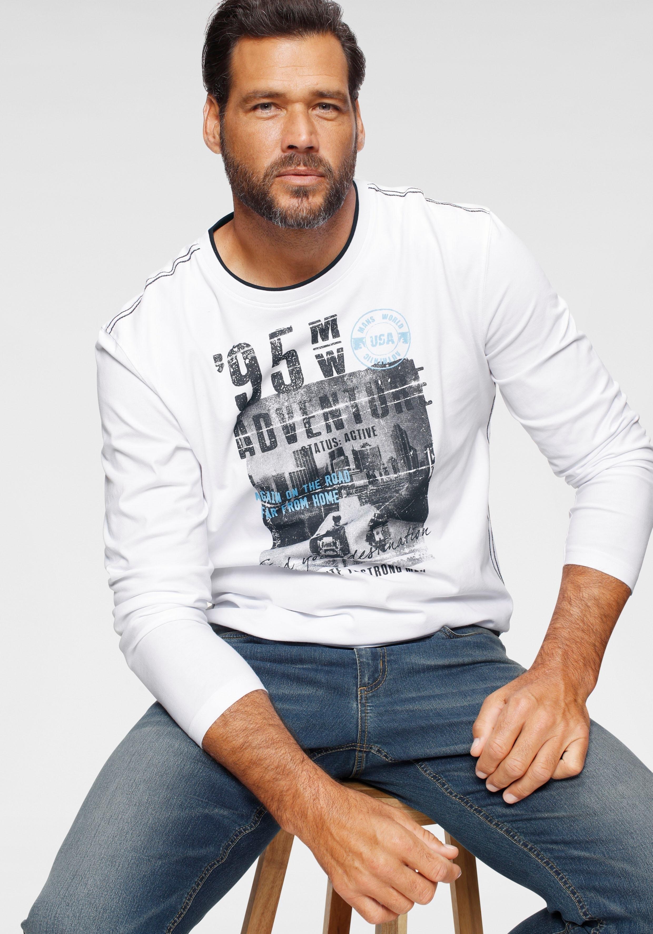 Man's World shirt met lange mouwen veilig op otto.nl kopen