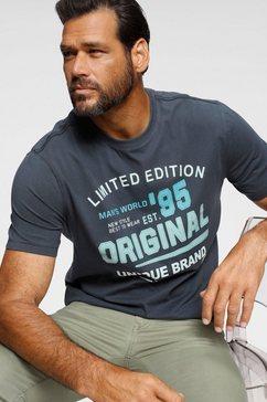 man's world t-shirt met frontprint blauw