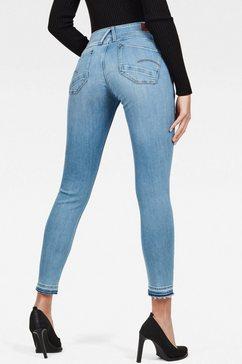 g-star raw skinny fit jeans »lynn mid waist skinny ripped« blauw