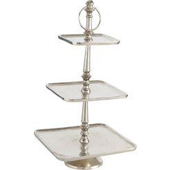 boltze decoratieve etagère »vendi« zilver