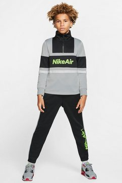 nike sportswear trainingspak »nike air big kids boys tracksuit« (set, 2 tlg.) zwart
