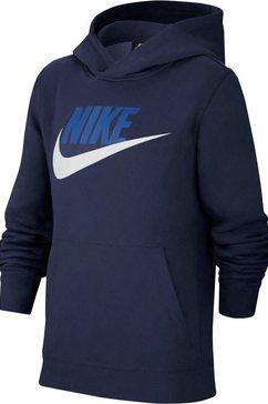 nike sportswear hoodie »club fleece big kids boys pullover hoodie« blauw