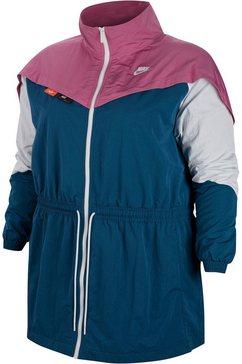 nike sportswear windbreaker »icon clash track jacket plus size« blauw