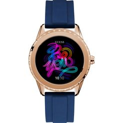 guess connect smartwatch blauw