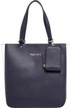 tommy hilfiger shopper »th corporate tote« blauw