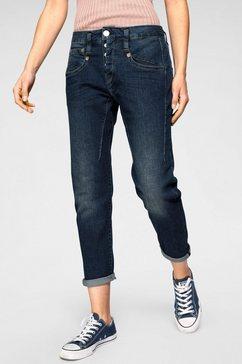 herrlicher boyfriend jeans »shyra cropped« blauw