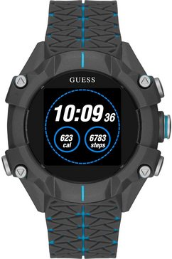 guess connect smartwatch grijs