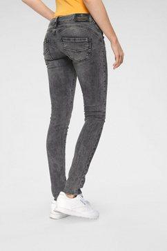 herrlicher slim fit jeans »gila slim« zwart