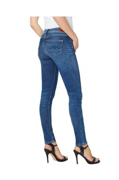 pepe jeans skinny fit jeans »pixie« blauw